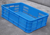 Ventilated No Collapsible Plastic Crate , Food Grade Stacking Confectionery Tray