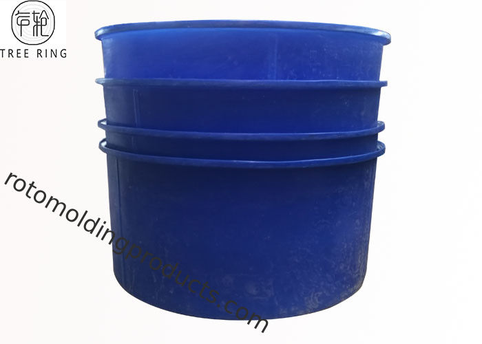 M5000L Rotomolding Products , Open Top Circular Blue 1300 Gallon Aquaponics Water Tank