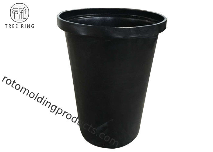 Cylinderical 16Gallon Plastic Utility Buckets With Flat Bottom M70L OEM Black