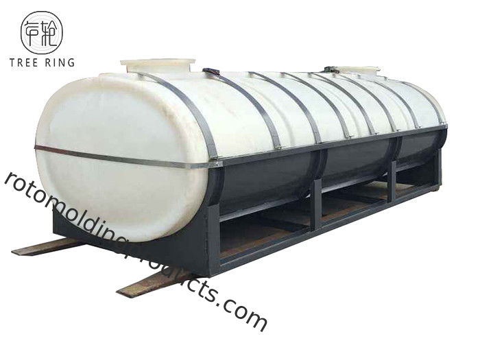 HPT10000L Roto Mold Tanks , Liquids Storage Horizontal Leg Tank Plastic On Trucks