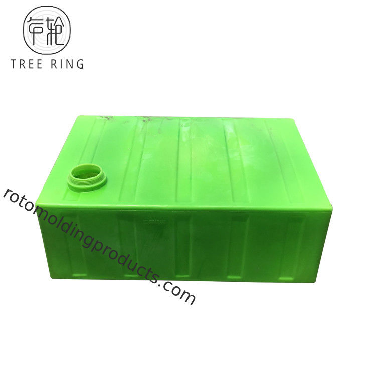 Green Color 500L Rotomolding Products Rectangualr Portable Utility Baffled Storage Water Tanks  For Car Care Solution