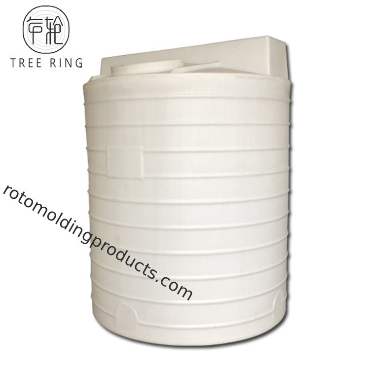 660 Gallon UV Resistant Chemical Dosing Tank Vertical Dome Top Water Tank With Drain Hole